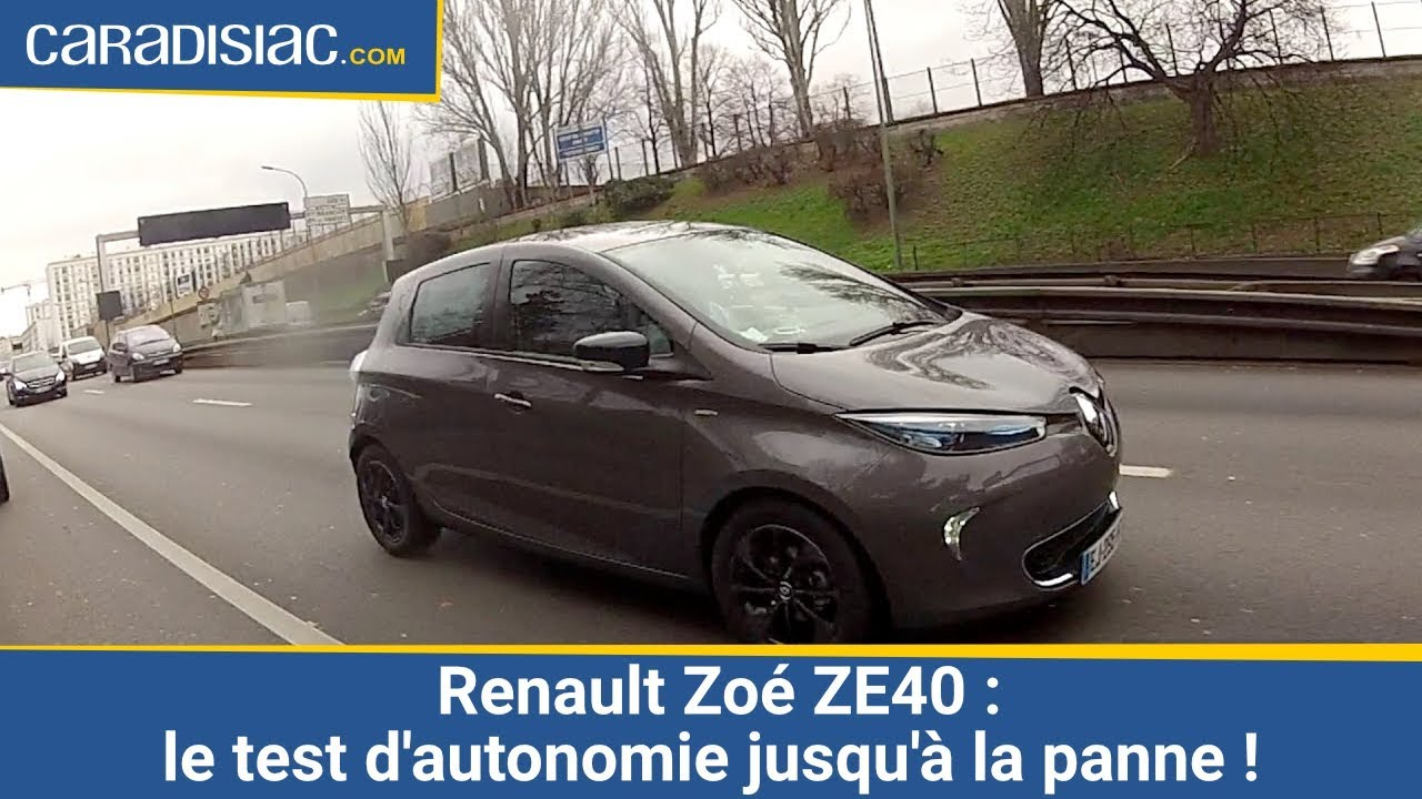 renault zo ze40 le test d 39 autonomie jusqu 39 la panne youtube. Black Bedroom Furniture Sets. Home Design Ideas