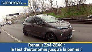 Renault Zoé ZE40 : le test d'autonomie jusqu'à la panne !