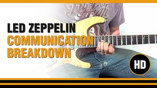 Como tocar Communication Breakdown de Led Zeppelin en Guitarra Electrica CLASE TUTORIAL