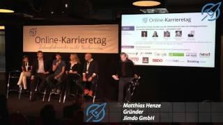 Unternehmerpanel, Online-Karrieretag 2015 Hamburg