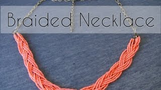 DIY - Handmade braided necklace