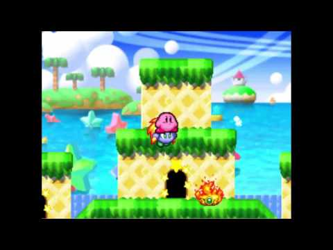 Kirby's Dream Land 2's 1st level in Kirby Super Star Ultra! (remake)