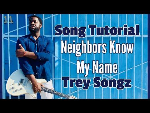 R&B Guitar Lesson   Neighbors Know My Name  Trey Songz