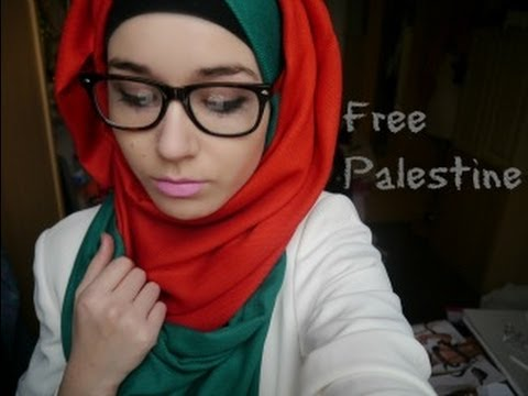Hijab Tutorial l Palestinian flag inspired