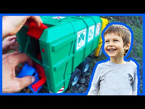 Bruder and Tonka Recycling Trucks