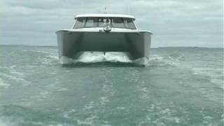 Tiberius Powercat doing sea trials