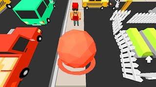 【小熙解说】滚球大作战 一个大圆球可以粘人粘车粘房子怎么回事