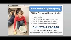 24 7 Emergency Plumber Clarkston GA - Call 770-212-3999 for Emergency Plumber in Clarkston GA