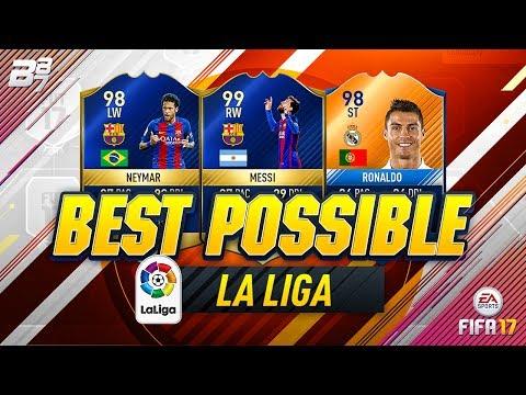 BEST POSSIBLE LA LIGA TEAM! w TOTS MESSI AND MOTM RONALDO!  FIFA 17