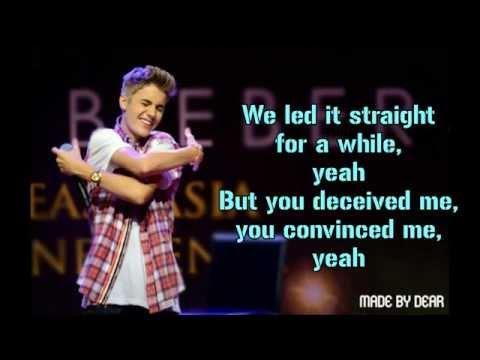 Justin Bieber - Thought Of You Karaoke HD