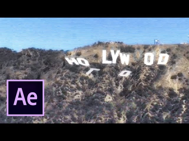 Hollywood Sign Collapse - Los Angeles Earthquake (After Effects VFX)