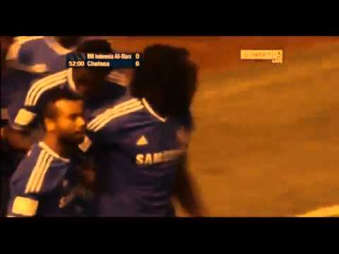Chelsea 8 - Indonesia all stars  1 (all goals and highlights)  (25-7-13) HD