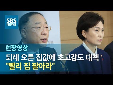 """""""빨리 집 팔아라"""" 되레 오른 집값에 초고강도 처방 (현장영상) / SBS"""