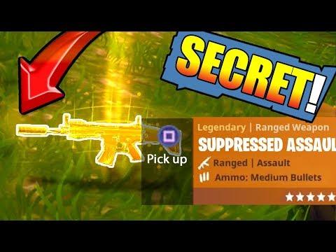 *NEW* Legendary SILENCED SCAR in FORTNITE: Battle Royale (Secret) EASTER EGG