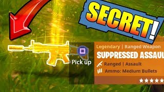 *NEW* Legendary SILENCED SCAR in FORTNITE: Battle Royale (Secret) EASTER EGG