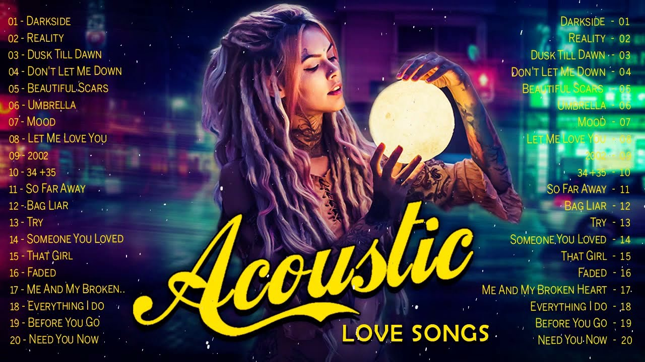 Top Hits English Acoustic Cover Love Songs 2021 - Best Guitar Cover of Popular Love Songs Playlist