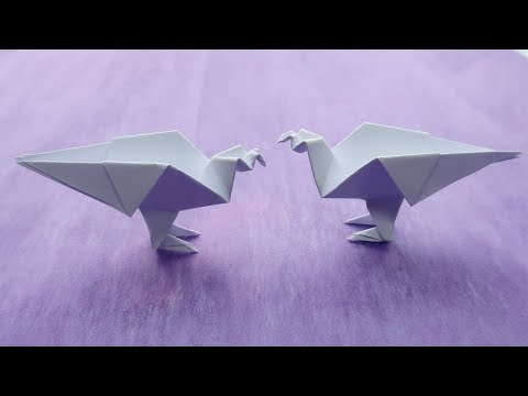 How to Make a Paper Dove  ? origami paper Bird , Paper animals
