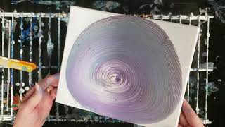 Trying Out Arteza Metallic Paints in an Acrylic Pour Tree Ring!