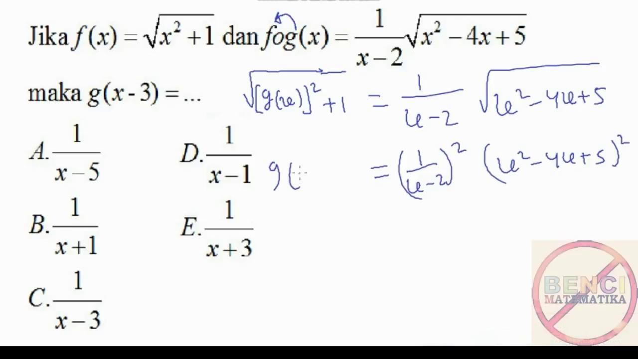 Fungsi Komposisi Bentuk Akar Soal Mandiri Unj Youtube