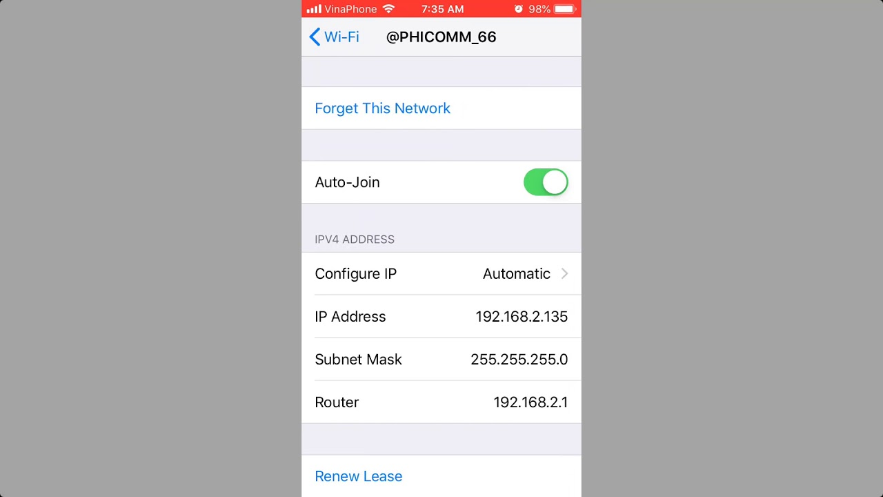 How to check ip address iphone 7