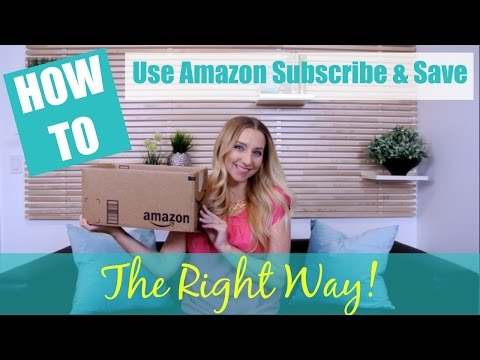 How to Use the Amazon Subscribe and Save Program the RIGHT WAY!