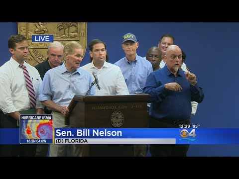 Sen. Bill Nelson And Sen. Marco Rubio Discuss Hurricane Irma Plans