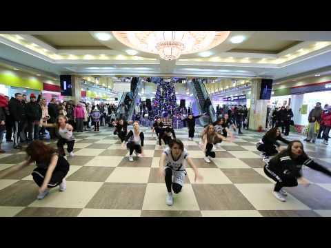 Видео, новогодний флешмоб, школа-студия TODES-Kaluga, 28 декабря 2014