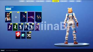 LEAKED *NEW* ONESIE skin showcase Fortnite Battle Royale