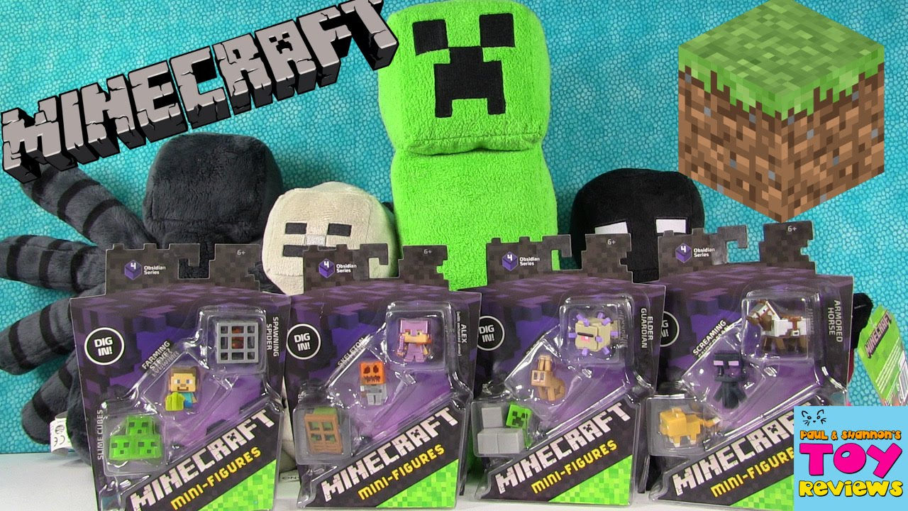 minecraft obsidian series 4 3 packs exclusive figures unboxing pstoyreviews youtube. Black Bedroom Furniture Sets. Home Design Ideas