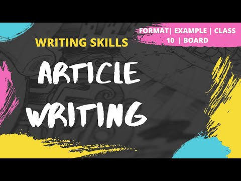 Article Writing | How to write an Article | Format | Example | Exercise | Writing Skills
