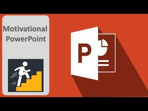 Create a short motivational scene using powerpoint | PowerPoint Animation Tutorial