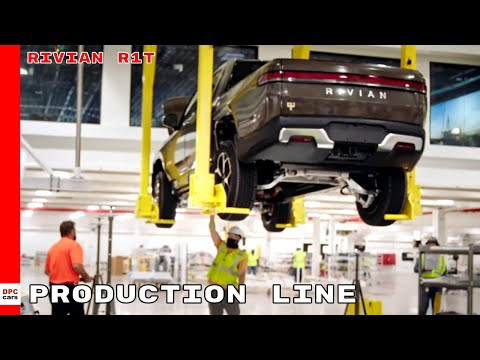 Rivian R1T Electric Pickup Truck Production Line