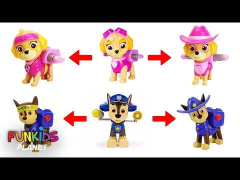 Thumbnail: Learning Color Video for Kids: Paw Patrol Skye & Chase Turn into Cowboy Pups and Ninjas Pups