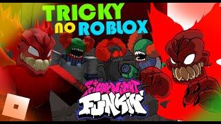 Tricky 2.0 mas no FUNKY FRIDAY! Skins do Tricky + Week completa! Fnf Roblox