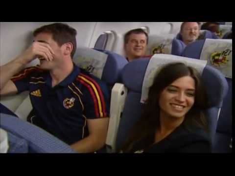 Spain's Celebration Party On Their Flight Home