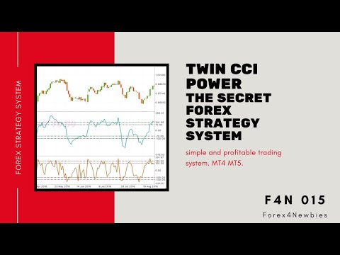 Twin CCI power, the secret FOREX strategy system, simple and profitable trading system. MT4 MT5