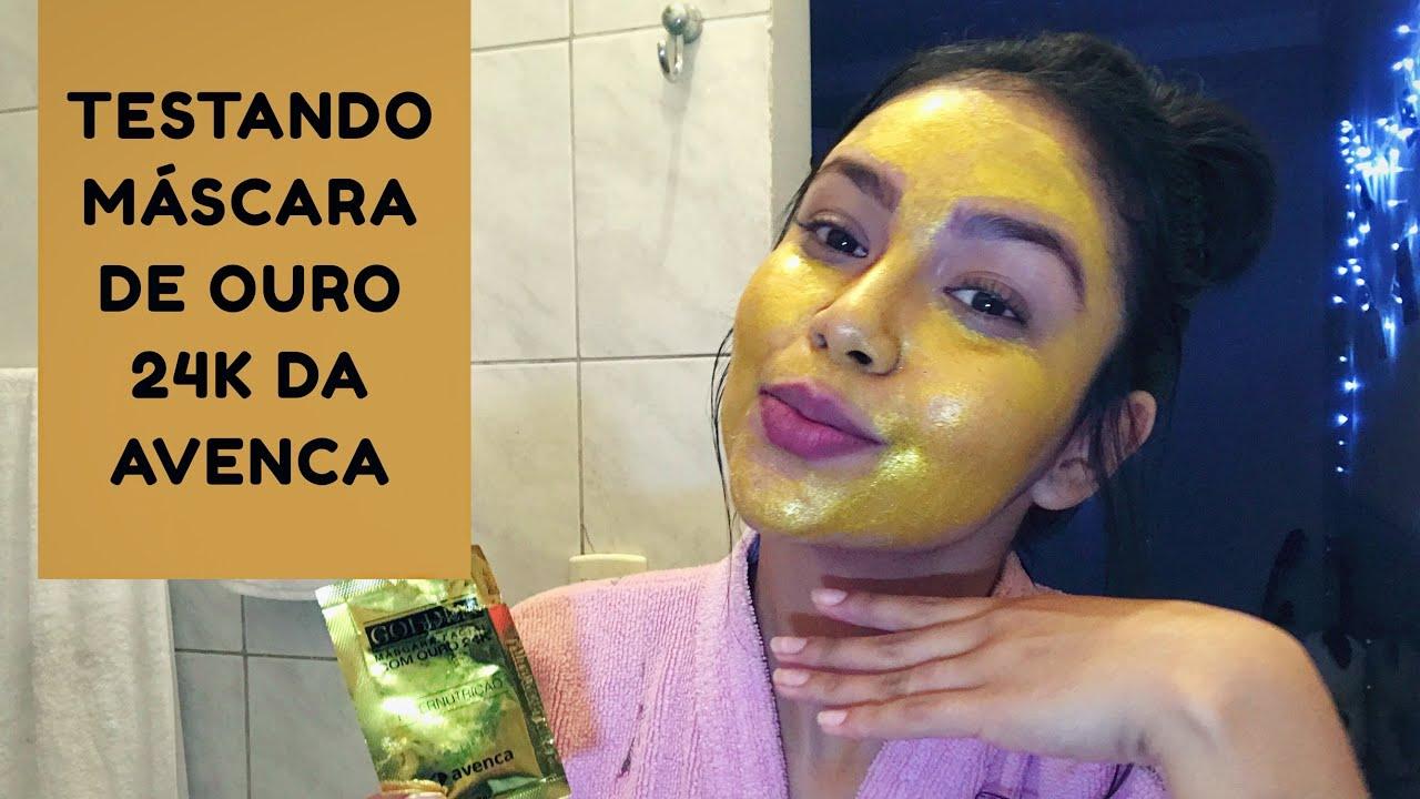 MÁSCARA DE OURO 24K // TÔ RICA !!