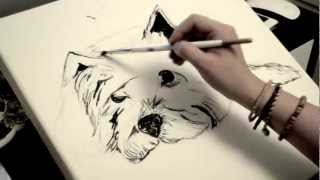 Anna Banana Draws Ellie - West Highland White Terrier - Anna Rees Art