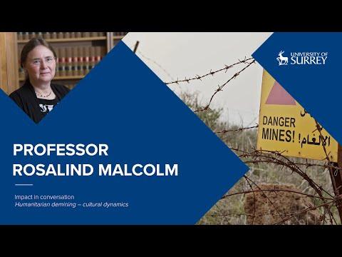 Play video: Impact in Conversation: Professor Rosalind Malcolm | University of Surrey