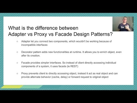 Java interview : Design Patterns Differences