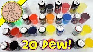 Mixing 20 Mountain Dew Flavors - My New Dew Flavor Is - Iced-TeaDew!