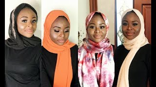 4 SIMPLE  HIJAB STYLES!!