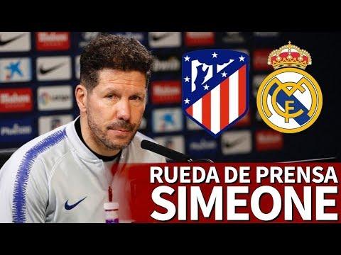 Atlético - Real Madrid | Rueda de prensa de previa de Simeone | Diario AS