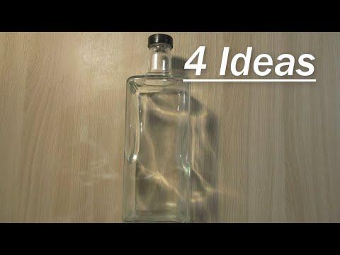 Интерьерные бутылки своими руками