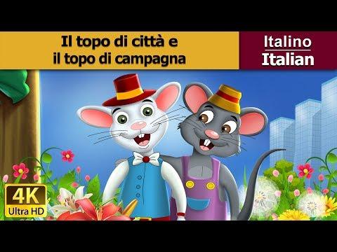 Il topo di  città e il topo di campagna - storie della buonanotte - 4K - Italian Fairy Tales