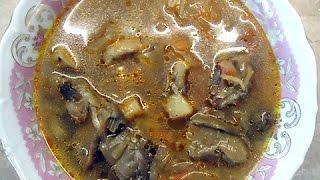 Щи из квашеной капусты с грибами Постные щи