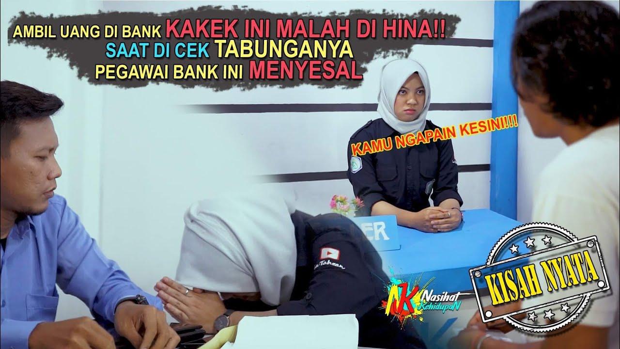 AMBIL UANG DI BANK KAKEK INI MALAH DI HINA!! SAAT BUKU TABUNGANYA DICEK PEGAWAI BANK INI MENYESAL