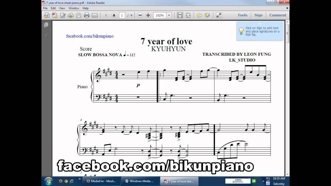 7 year of love piano - YouTube7 year of love piano