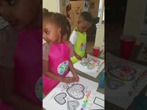 Letter N activities painting