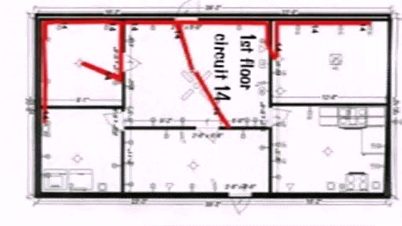 Floor Plan With Electrical Wiring